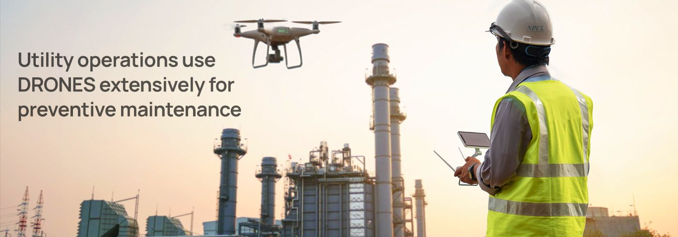 Utility operations use drones extensively for preventive maintenance