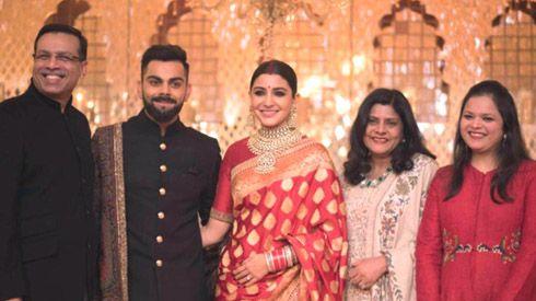Dr Sanjiv Goenka and Family with Virat Kohli and Anushka Sharma in New Delhi