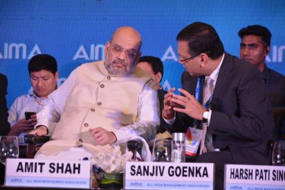 Dr Sanjiv Goenka with Shri Amit Shah Honourable Minister of Home Affairs
